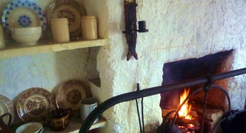 Inside view of the Fisherman's Cottage, Folk VIllage Museum, County Donegal